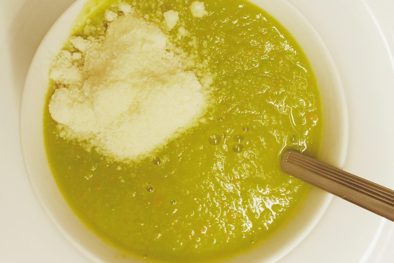Kürbis-Erbsen-Suppe