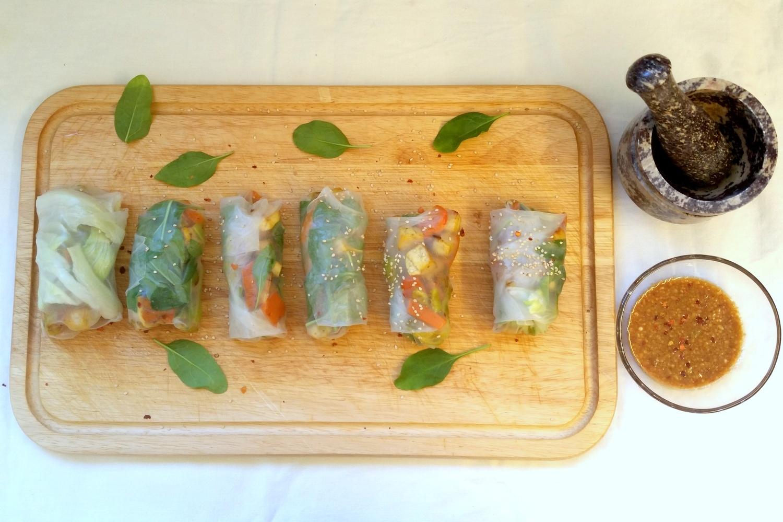 Vegetarische vietnamesische Sommerrollen